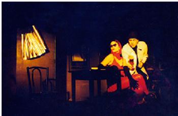 Cenário para o 'Menu Musical' em alumínio de Liane Monteiro